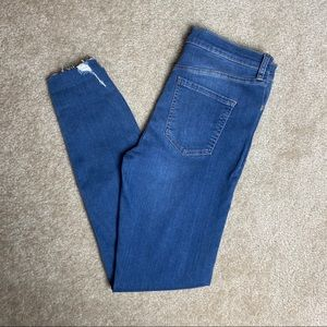 Free People Destructed Skinny Jeans